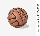 old fashioned soccer football... | Shutterstock .eps vector #569367568