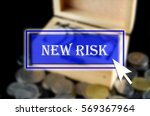 business background with blue... | Shutterstock . vector #569367964