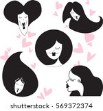 loving girl  design icon ... | Shutterstock .eps vector #569372374