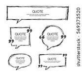 vector set of quote blank... | Shutterstock .eps vector #569373520