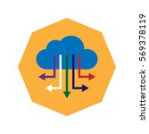 big data and cloud computing... | Shutterstock .eps vector #569378119