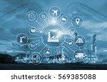 industry 4.0 concept  smart... | Shutterstock . vector #569385088