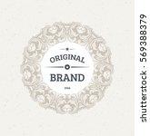 vintage frame for luxury logos  ... | Shutterstock .eps vector #569388379