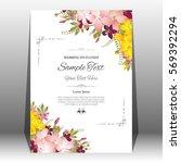 wedding invitation or greeting... | Shutterstock .eps vector #569392294