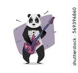 memphis poster party. template... | Shutterstock .eps vector #569396860