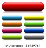 colorful glass web buttons set | Shutterstock .eps vector #56939764