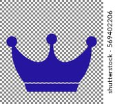 king crown sign. blue icon on... | Shutterstock .eps vector #569402206