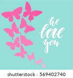 we love you hand drawn... | Shutterstock .eps vector #569402740