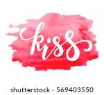 kiss. hand drawn creative... | Shutterstock .eps vector #569403550