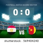 egypt vs cameroon soccer ball... | Shutterstock .eps vector #569404240