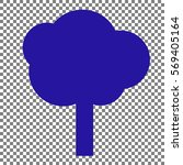 tree sign illustration. blue... | Shutterstock .eps vector #569405164