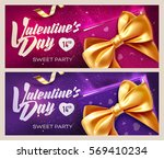 happy valentine's day banners.... | Shutterstock .eps vector #569410234