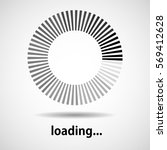 loading icon. indicator for... | Shutterstock .eps vector #569412628