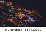 A Colorful Night City Lights Of ...