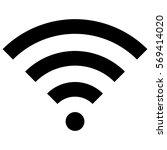 vector illustration of wifi... | Shutterstock .eps vector #569414020