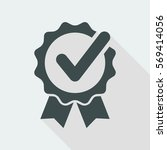 approval check   vector flat... | Shutterstock .eps vector #569414056