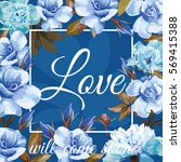 trendy slogan love will come... | Shutterstock .eps vector #569415388