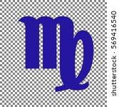 virgo sign illustration. blue... | Shutterstock .eps vector #569416540