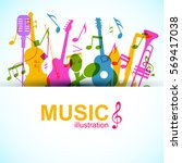 music graphic template with... | Shutterstock .eps vector #569417038