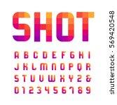 mosaic font. vector alphabet... | Shutterstock .eps vector #569420548