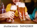 cheers to st patrick  | Shutterstock . vector #569420809