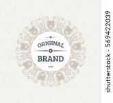 vintage frame for luxury logos  ... | Shutterstock .eps vector #569422039