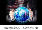 investment concept of business...   Shutterstock . vector #569424370