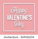 happy valentines day vintage... | Shutterstock .eps vector #569426254