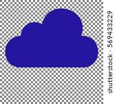 cloud sign illustration. blue...   Shutterstock .eps vector #569433229