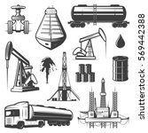 vintage extraction oil elements ... | Shutterstock .eps vector #569442388