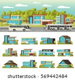 modern houses composition with... | Shutterstock .eps vector #569442484