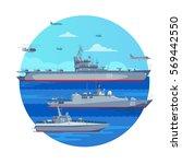 marine battle fleet concept...   Shutterstock .eps vector #569442550