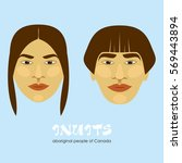 inuit   the indigenous people... | Shutterstock .eps vector #569443894