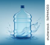 big bottle with clean water.... | Shutterstock .eps vector #569444203