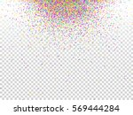 confetti background. holiday... | Shutterstock .eps vector #569444284