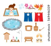 hot spring objects icons set ...   Shutterstock .eps vector #569446339