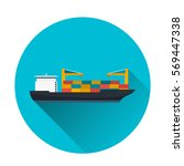 sea transportation logistic.... | Shutterstock .eps vector #569447338