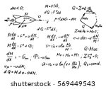 the calculation of the... | Shutterstock .eps vector #569449543