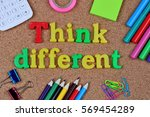 the words think different word... | Shutterstock . vector #569454289