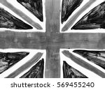hand drawn black and white flag ... | Shutterstock . vector #569455240