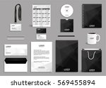 corporate identity design mock... | Shutterstock .eps vector #569455894