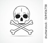 human skull and crossbones ... | Shutterstock .eps vector #569456758