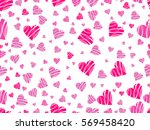 seamless pattern with hearts...   Shutterstock .eps vector #569458420