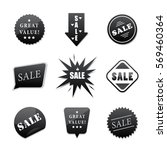 sale stickers set different... | Shutterstock .eps vector #569460364