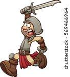 medieval soldier running....   Shutterstock .eps vector #569466964