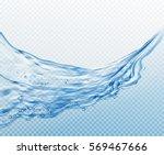 transparent water splashes ... | Shutterstock .eps vector #569467666