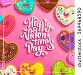 happy st valentine's day vector ... | Shutterstock .eps vector #569468590