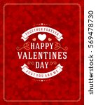 happy valentines day greeting... | Shutterstock .eps vector #569478730