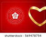 happy valentines day greeting... | Shutterstock .eps vector #569478754