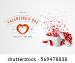 happy valentines day greeting... | Shutterstock .eps vector #569478838